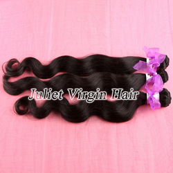Free Shipping DHL Virgin Malaysian Hair Mixed 3-4pcs Body Wave Human Hair Weave Natural Black Color Can Be Dyed Or Bleached(China (Mainland))