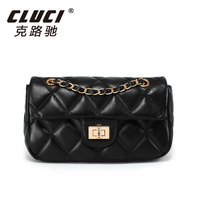 CLUCI COLLECTION 2013 genuine leather women's handbag dimond plaid fashion shoulder bag chain handbag