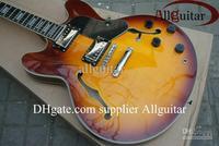 custom jazz Hollow Sunburst electric guitar Musical guitar