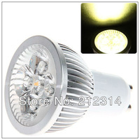 Wholesale - 50pcs/lot GU10 4W 4 LEDs Warm White Light LED Light (AC 85-260V, 3000-3500K)