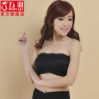 Black women's underwear fashion sexy comfortable breathable lace decoration all-match tube top tube top basic