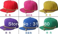 NEW COOL Flat Bill Hats For Men Flex Fit Snap back Hat Baseball Cap Men Snapbacks Mens Visor Chain Flat Peak Caps Women Sport