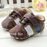 Topway ,Chocolate style leather flower baby shoe ,children shoe,Prewalker shoes ,Infant shoes supplier ,6pairs/lot ,free shiping