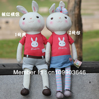 Free shipping Metoo bunny,soft toy rabbit doll for valentine's day/wedding or gilrs' gifts, 86cm,sitting height 47cm 2pcs/lot
