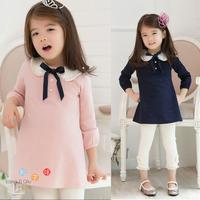 Children's clothing female child 2013 spring pearl princess one-piece dress set skirt legging