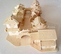 Diy wooden model 3d puzzle assembling model toy shipping