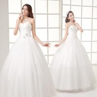 100% quality guarantee Wedding dress  princess sweet new arrival tube top puff skirt the bride married bandage wedding dress
