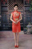 100% quality guarantee Clothing boutique wedding dress formal dress cheongsam evening dress the bride married cheongsam