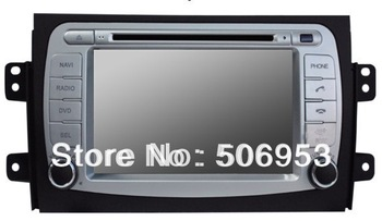 Qulity car dvd gps for suzuki sx4 (2006-2012) +(3g optional)+4GB free map+canbus+RDS+IPOD+phonebook+virtual disk