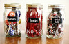 reusable canister jar chalkboard sticker organizer sticker Rectangles Set =24pieces,5.5*9cm /piece, with 1 free chalk