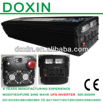 12v 110v 5000 WATT Car Power Inverter Charger Adapter / DC TO AC UPS  Modified Sine Wave Inverter