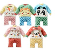 Baby Kids Rompers Pants Fit 0-2Yrs Girls Boys Children One-Piece Romper Long Sleeve Clothing 15Pcs/Lot 5 Color 3 Size