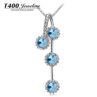 Hot saleT400 brand jewelry,made with swarovski elements crystal necklace,for women,best quality and style#7838,free shipping