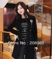 5pcs/lot 2013 spring issued Korea style elegant round collar slender sleeve stripe pullover sweater