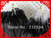 100G % micro ring loop hair extensions100 Indian keratin  remy Human Hair 18''-24'' fast shipment!!!