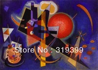 Wassily Kandinsky Oil Painting Reproduction on Linen canvas,In Blue1925,Museam Quality,Free shipping,handmade