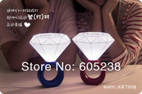 Free Shipping Great Valentine's Gift Diamond Ring Design Light Romantic Lamp LED Night for Lover