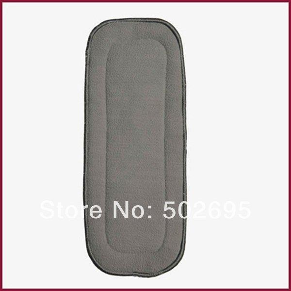 Free Shipping 100pcs/lot 100% Natural Bamboo Charcoal Fabric Diaper Inserts