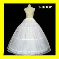 free shipping 3-Hoop Bridal PETTICOAT adjustable wholesale/retail