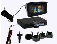 4 Sensors Car Parking System LCD Display Indicator Sound Alarm Car Reversing Sensors