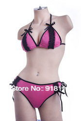 Free Shipping 2013 New Swimwear Lace Bikini Discount Water Bra Swimsuit Korea Beachwear Wholesale(UW-569)(China (Mainland))
