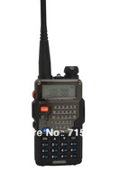 New Arrival UV-5RE Plus 136-174MHz(RX/TX) & UHF400-520MHz(TX/RX) Dual Band 5W/1W 128CH FM 65-108MHz with Free Earphone