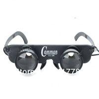 3x28 Glasses Style Fishing Binoculars Telescope - Black
