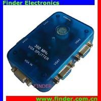 High Quality 4 Port 350MHz VGA Splitter 1PC to 4Monitors