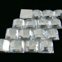 1000 Clear Square Acrylic Flat Back Rhinestone Confetti Party Craft Favor Decoraction  6mm