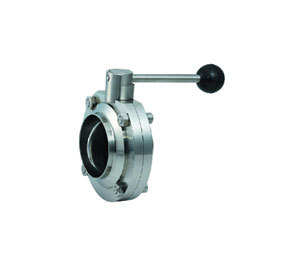 Sanitary welded Butterfly Valve SS304 25.4MM(China (Mainland))
