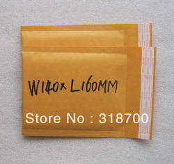 Free Shipping 140x160mm(5.51'x6.3'') Golden Kraft Bubble Mailing Envelope 5 pcs extra free for 3 lots,More sizes available(China (Mainland))