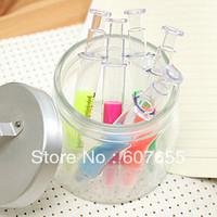 120pcs/lot  Syringe highlighter marker pen promotional highlighter pen free shipping