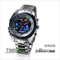 2013 Trendy Men's Sport Clock Fashion Blue Binary LED Pointer Watch Mens Diving Watches Waterproof(China (Mainland))