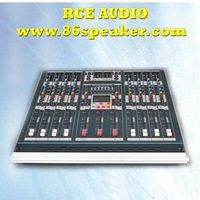 Wilth Built-in Amp 8 channels Professional Power Mixing console  With USB MP3 input DJ mixer pro audio equipment