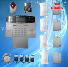 Free shipping  Security Guard Wireless Intelligent Mobile Call GSM Burglar Alarm System Auto-Dial Listen gsm alarm system S213
