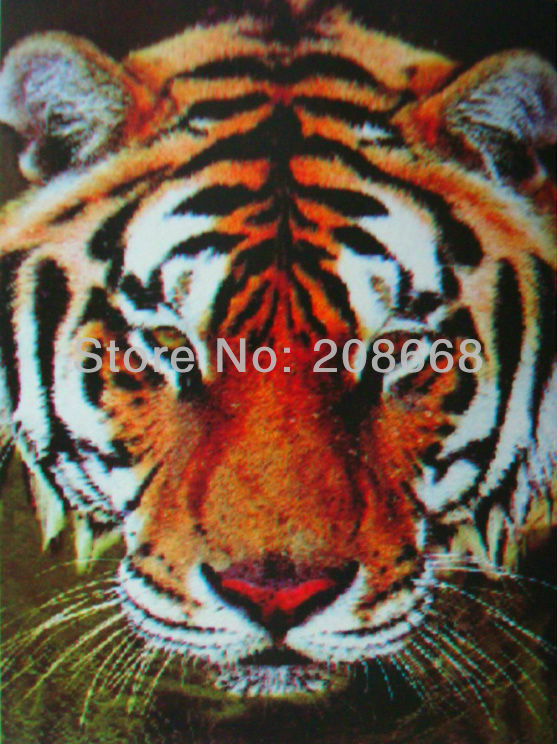 Free shipping item no.YX1032 3D picture,logo:the king tiger head,size 25x35cm,never fade forever,50pc/lot,home decor 3d art(China (Mainland))