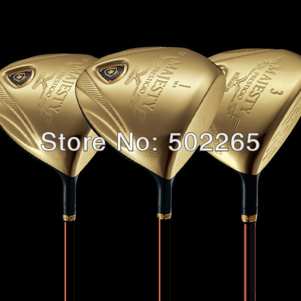 Maruman MAJESTY PRESTIGIO Gold Premium Golf Club 1# Driver 10.5 loft or 3# or 5# Wood 3pc Club EMS FREE SHIPPING(China (Mainland))
