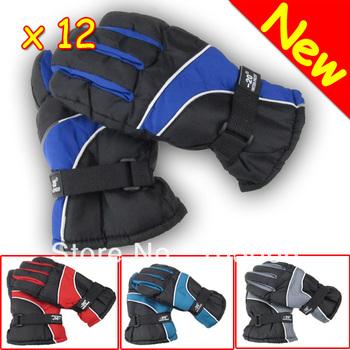 New 12 Pairs Fashion Winter Men's Ski Gloves Snowboard Motorcycle Snow Free Shipping
