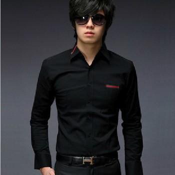 new  fashion slim elegant shirt best brand checked dress long sleeve shirts for men designer