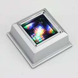 Hot Sale! Crystal Display Base Stand 4 LED Light, free shipping(China (Mainland))