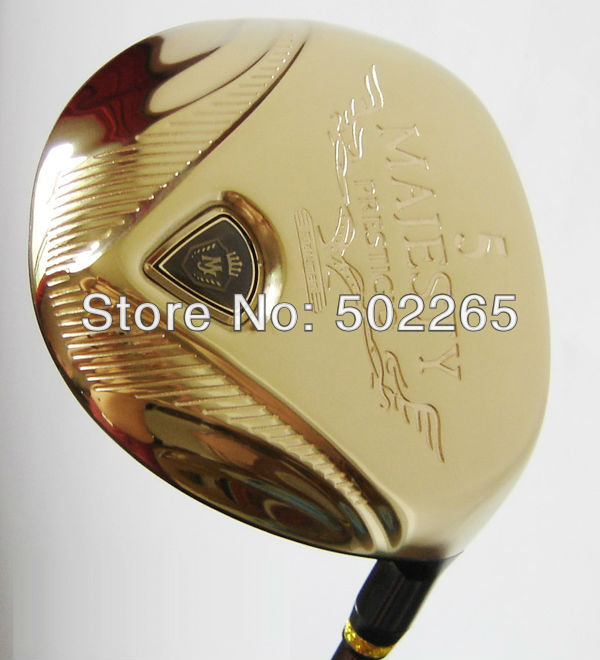 Maruman MAJESTY PRESTIGIO Gold Premium Golf Wood 3# or 5# Wood MAJESTY PRESTIGIO GOLD PREMIUM SHAFT R/S Free Shipping(China (Mainland))