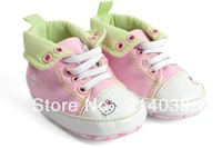 free shiping baby hello kitty pink baby girl infant/kids cute first walker shoes free shipping