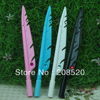 JJ24 free shipping wholesale retail (120pcs/lot) feather shape gel ink pen with crystal diamond