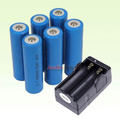 Charger +6x 5000mAh 3.7V 18650 NCR Li-ion  Rechargeable Battery Pack For Ultrafire LED Flashlight Torch Flash Light etc..(China (Mainland))