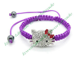 4pcs New Design Hello Kitty Charm Bracelets Jewelry for Women Fashion Bracelet fit Friendship Gift, Free Shipping, LZB0025(China (Mainland))