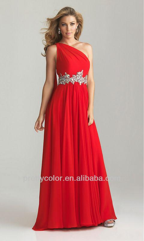 prom dress for pregnant women elegant bridesmaid dresses chiffon long gown one shoulder diamond red pink long sash one shoulder