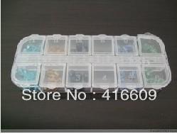 Free shipping Plastic Boxes Multifunctional Empty Plastic Box for Nail art Glitter Rhinestones case,DIY tool box(10pcs/lot)