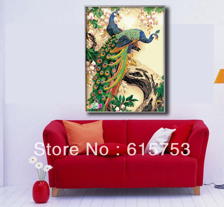 Mão atacado- pintado pintura de pavão forma personalizada pintura decorativa.. 001