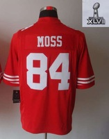 wholesale cheap discount football 2013 Super Bowl  jerseys  84 MOSS red (Limited) jerseys free shipping