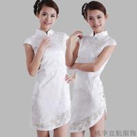2012 summer cheongsam fashion ultra-short stand collar xiebian placketing sexy young girl cheongsam dress